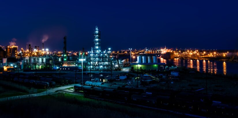 Oil Refinery - Night